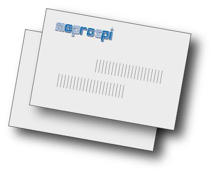 Visitenkarten zweiseitig 4/4-farbig